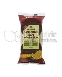 Produktabbildung: Alnatura Schoko Reis Waffeln Orange 100 g