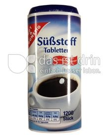 Produktabbildung: Gut & Günstig Süßstoff Tabletten 1200 St.