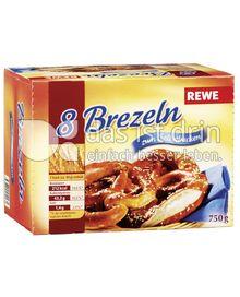 Produktabbildung: REWE Schwäbische Laugenbrezeln zum Selbstbacken 8 St.