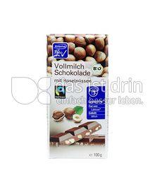 Produktabbildung: Alnaviva Vollmilchschokolade mit Haselnüssen 100 g