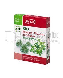 Produktabbildung: Alnaviva Menthol, Thymian, Eukalyptus Gummidrops 60 g