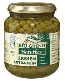 Produktabbildung: Bio Greno Naturkost Erbsen 340 g