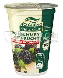 Produktabbildung: Bio Greno Naturkost Bio Joghurt auf Frucht Brombeere-Holunder 200 g