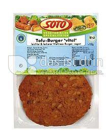 """Produktabbildung: SOTO vegetarische Spezialitäten Tofu-Burger """"vital"""" 200 g"""