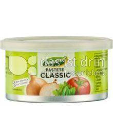 Produktabbildung: dennree Pastete Classic 125 g