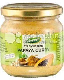 Produktabbildung: dennree Streichcreme Papaya Curry 180 g