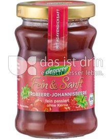 Produktabbildung: dennree Fruchtaufstrich Fein & Sanft Erdbeere-Johannisbeere 200 g
