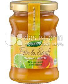 Produktabbildung: dennree Fruchtaufstrich Fein & Sanft Mango-Limette 200 g