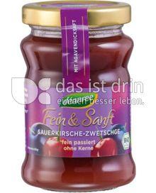 Produktabbildung: dennree Fruchtaufstrich Fein & Sanft Sauerkirsche-Zwetschge 200 g