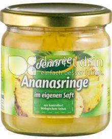 Produktabbildung: dennree Ananasringe im eigenen Saft 200 g