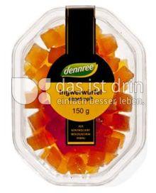 Produktabbildung: dennree Ingwerwürfel, abgetropft 150 g