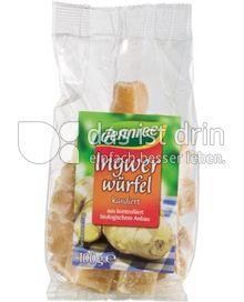 Produktabbildung: dennree Ingwerwürfel, kandiert 100 g