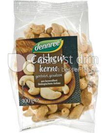 Produktabbildung: dennree Cashewkerne geröstet, gesalzen 100 g