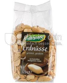 Produktabbildung: dennree Erdnüsse geröstet, gesalzen 125 g