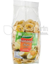 Produktabbildung: dennree Bananenchips geröstet 150 g