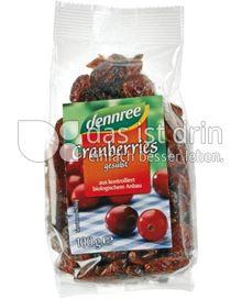 Produktabbildung: dennree Cranberries gesüßt 100 g
