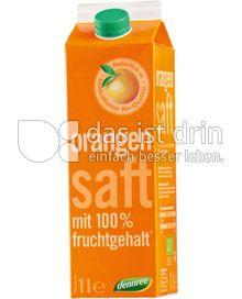 Produktabbildung: dennree Orangensaft mit 100% Fruchtgehalt 1 l