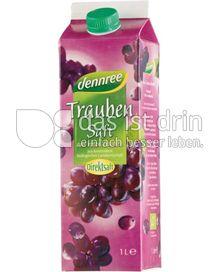 Produktabbildung: dennree Traubensaft aus roten Trauben 1 l