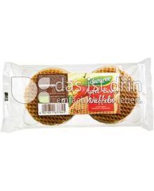 Produktabbildung: dennree Apfel-Birne-Waffeln 175 g