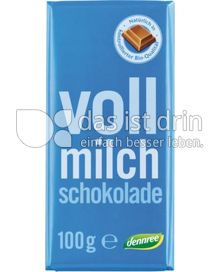 Produktabbildung: dennree Vollmilchschokolade 100 g