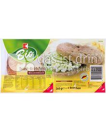 Produktabbildung: K-Bio Toast-Brötchen Weizenmisch 260 g