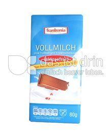 Produktabbildung: Frankonia Vollmilch Schokolade mit Traubenzucker 80 g