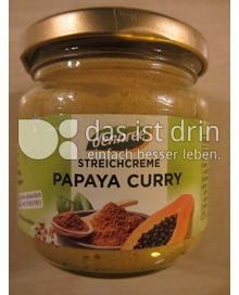 Produktabbildung: dennree Streichcreme Papaya Curry 180 g