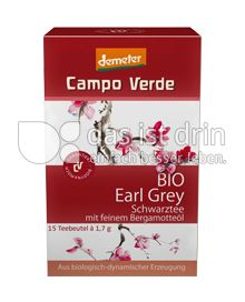 Produktabbildung: Campo Verde Bio Schwarztee Earl Grey 25,5 g