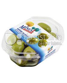 Produktabbildung: MinusL Grüne Oliven gefüllt mit laktosefreiem Frischkäse Doppelrahmstufe 150 g