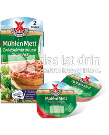 Produktabbildung: Mühlen Mett Zwiebelmettwurst Jäger Art