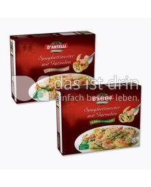Produktabbildung: D´Antelli Spaghettinester mit Garnelen in Weißweinsauce. 450 g