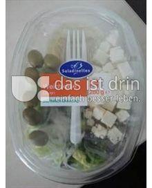 Produktabbildung: Saladinettes Weichkäse-Olive, mit Joghurt Dressing. 350 g