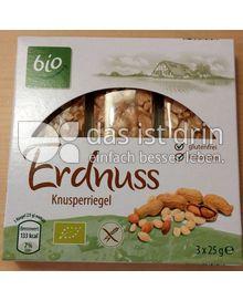 Produktabbildung: bio Erdnuss Knusperriegel 75 g