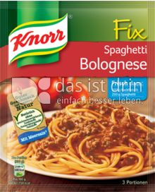 knorr fix spaghetti bolognese 330 0 kalorien kcal und. Black Bedroom Furniture Sets. Home Design Ideas