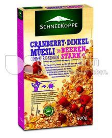 Produktabbildung: Schneekoppe Cranberry Dinkel Müesli 400 g