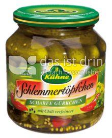 Produktabbildung: Kühne Schlemmertöpfchen Scharfe Gürkchen 580 ml