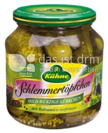 Produktabbildung: Kühne Schlemmertöpfchen Mild-würzige Gürkchen 580 ml