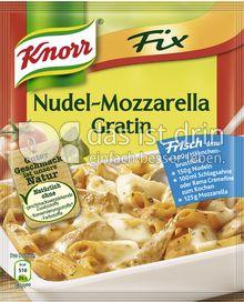 Produktabbildung: Knorr Fix Nudel-Mozzarella Gratin 65 g