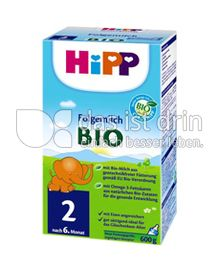 Produktabbildung: Hipp Folgemilch Bio 2 600 g