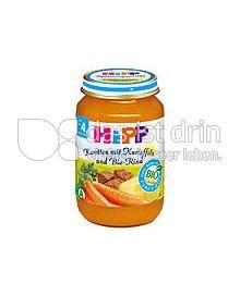 Produktabbildung: Hipp Menüs Karotte-Kartoffel mit Bio-Rind 190 g