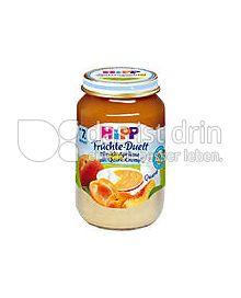 Produktabbildung: Hipp Früchte-Duett Pfirsich-Aprikose mit Quark-Creme 160 g