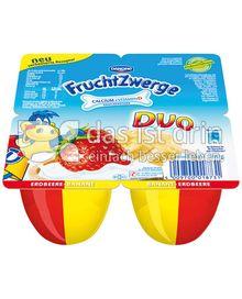 Produktabbildung: Danone Fruchtzwerge Duo Erdbeere-Banane 4er 4 x 95g