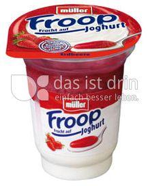 Produktabbildung: Müller Froop® Frucht auf Joghurt Erdbeere 150 g