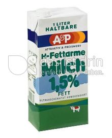 Produktabbildung: A&P H-fettarme Milch 1 l