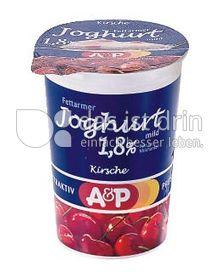 Produktabbildung: A&P Fettarmer Joghurt mild 250 g