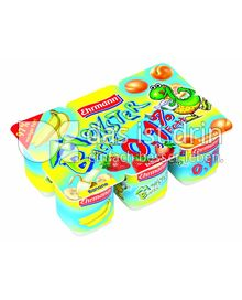 Produktabbildung: Monsterbacke Monsterbacke Fruchtquarkt 0,1% Banane/Erdbeere/Aprikose 300 g