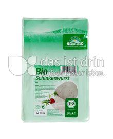 Produktabbildung: Grünes Land Bio Schinkenwurst fein 80 g