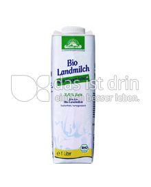 Produktabbildung: Grünes Land Bio Landmilch 3,8% 1 l
