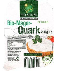 Produktabbildung: Bio Sonne Bio Mager Quark 250 g