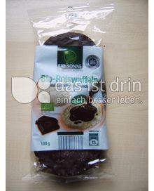 Produktabbildung: Bio Sonne Bio-Reiswaffeln mit Zartbitterschokolade 100 g